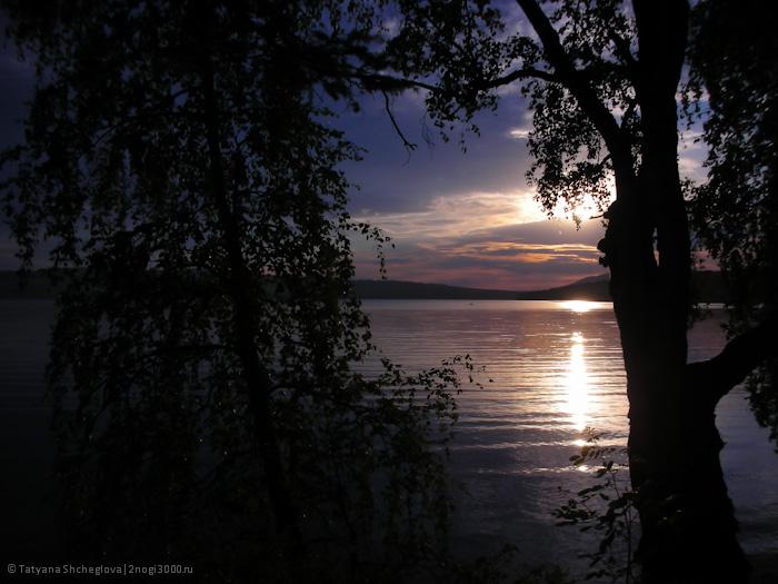 Рассвет на западном берегу озера Большого